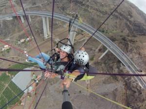 volando por el puente de Silva