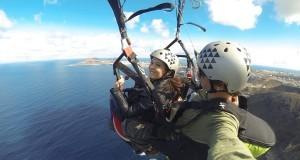 """""""Bautizo de vuelo"""" en Parapente Biplaza con Aventura en Canarias"""