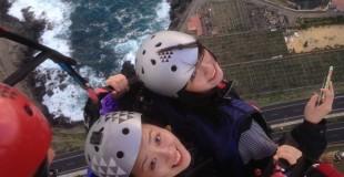 Volando en parapente con Aventura en Canarias