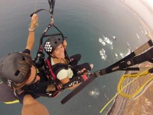 vuelo libre sobre el mar