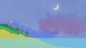 brisa nocturna de tierra a mar