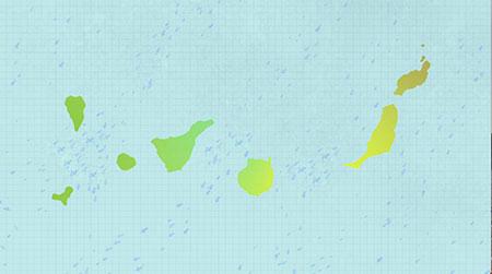 La velocidad del viento se ve incrementada cuando este pasa entre dos objetos, en este caso dos islas